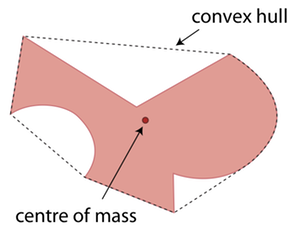 Convex Hull and Centre of Mass